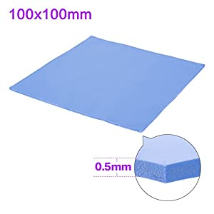 SHINESTAR Soft Thermal Silicone Conductive Pad Conductivity Heatsink Cooling Sheet Insulation Paste for Computer / Laptop / Notebook / GPU / CPU / VGA / IC / LED (100 x 100 x 0.5mm)