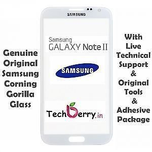 Original Front Screen Outer Glass Lens for Samsung Galaxy Note II / N7100 (White)