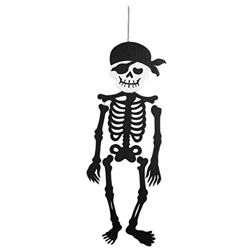 lightclub Fashion Pirate Skeleton Halloween Door Wall Hanging Party Home Scary Decoration Skeleton
