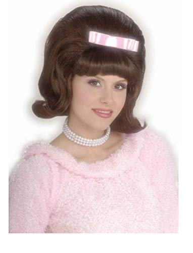 (Forum Novelties Women's Flirting with The 50's Bouffant Costume Wig, Brown, One)