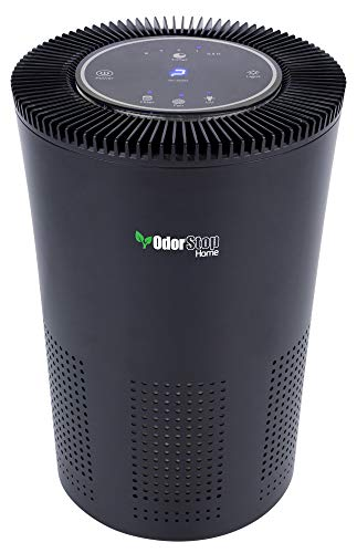 OdorStop HEPA Air Purifier with H13 HEPA Filter, UV Light, Active Carbon, Multi-Speed, Sleep Mode and Timer OSAP4, Black
