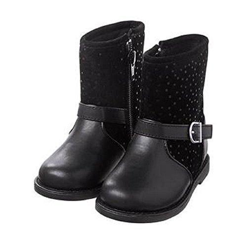 Gymboree Girls Dot Moto Boots Black (8)