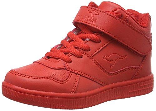 KangaROOS Unisex-Kinder Skyline Kids Hohe Sneakers, Rot (Red 600), 34 EU