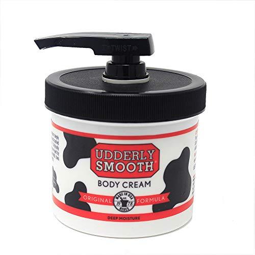 Udderly Smooth Udder Cream - Udderly Smooth Udder Cream, Skin Moisturizer, 10 Ounce Jar with Dispenser Pump