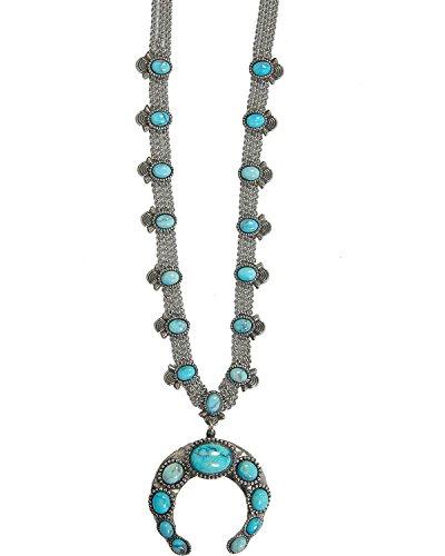 Women's Cowgirl Confetti Women&Rsquo;S Squash Blossom Necklace Silver One Size (Necklace Squash Chain)