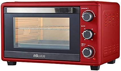 MyWave Horno MWHOR-25L Horno Electrico De Sobremesa Potencia De 1500W Capacidad De 25 Litros 4 Funciones y Temperatura Ajustable para Cocción ...