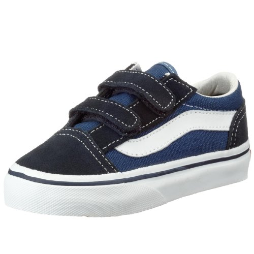 Vans Boys' Old Skool V - K, Navy, 8 M Toddler