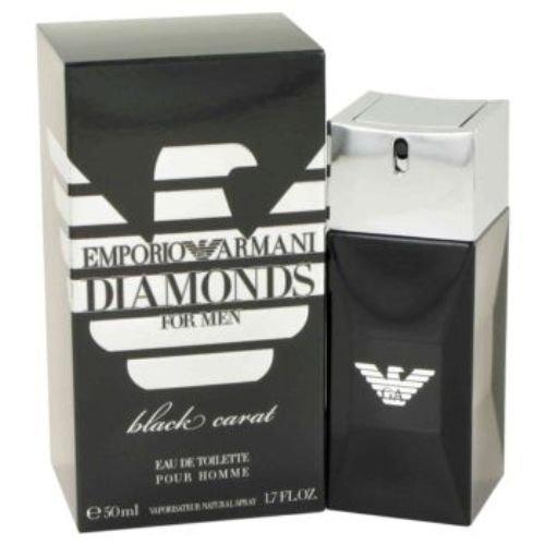 Giorgio Armani Black Spray - Giorgio Armani Emporio Armani Diamonds Black Carat Eau de Toilette Spray for Men, 1.7 Ounce