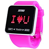 SKMEI Touch Screen Jelly Rubber Band Digital LED Waterproof Boys Girls Sport Casual Wrist Watches Purple