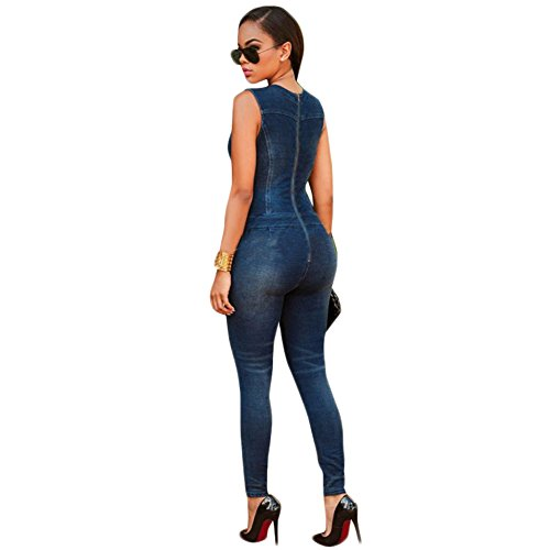 WintCO Damen Jeans Overall Cocktail Einteiler Jumpsuit Cosplay Schnuerung Perfekt für Ausführung Cosplay Alttag