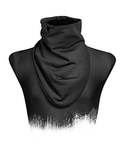 Coupe-vent - Bandana, Black Out Collection, Gris foncé rugueux, Écharpe, Jersey / Sweat, Lavallière (M13)
