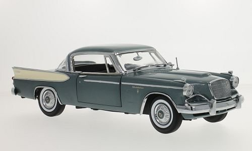 (Studebaker gold Hawk, metallic-grey/beige, 1957, Model Car, Ready-made, Sun star 1:18)
