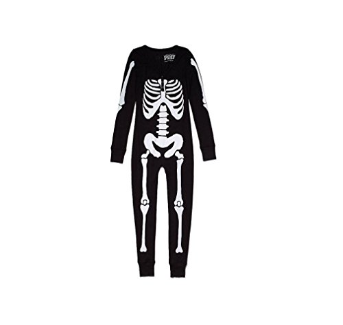 Victoria's Secret PINK SKELETON Onesie pajamas SMALL -
