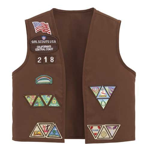 Current Brownie Vest, Large - Official Girl Brownie