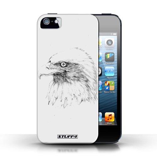 Etui pour Apple iPhone 5/5S / Aigle / Oiseau conception / Collection de Dessin Croquis