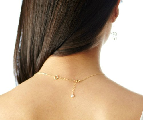 Efy Tal Jewelry Necklace Extender Chain, 2 Removable and Adjustable - Sterling Silver or 14k Gold Filled Extension- Extra Links to Extend Your Necklace