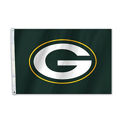 NFL Green Bay Packers Unisex Bay Packers 2 Ft. X 3 Ft. Flag W/Grommetts, One Size
