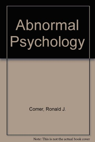 Abonormal Psychology, Student CD, Scientific American Reader for Comer & Case Studies for Abnormal Psychology