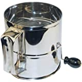 Winware 8 Cup Stainless Steel Rotary Sifter