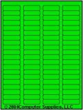 1,600 Label Outfitters® Fluorescent Green LASER ONLY Labels,1.75 x 0.5 inches, 20 Sheets, use Avery® 5267 Template