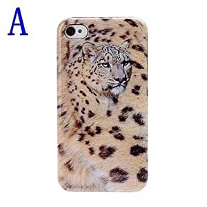 Leopard Pattern Plastic Hard Case for iPhone 4/4S , B