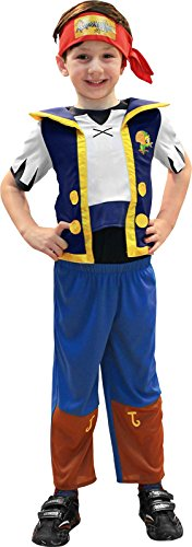 3-4 Years Boys Jake And The Never Land Pirates Costume