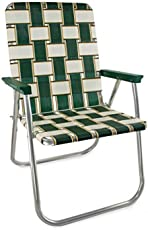 Lawn Chair USA Webbing Chair (Deluxe, Charleston with Green Arms)