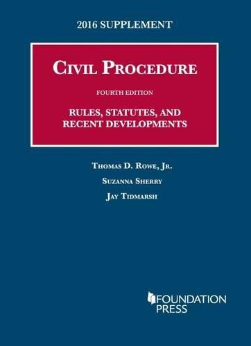 Civil Procedures 2016 Supplement