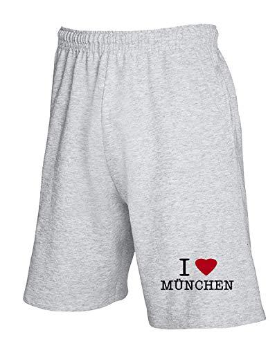 Tlove0007 Heart Tuta Pantaloncini shirtshock T Mnchen Grigio I xCqwYCIE