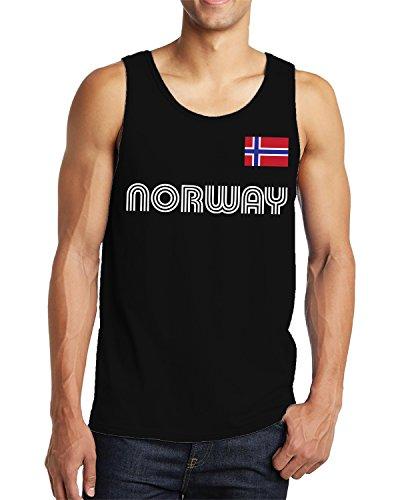 - SpiritForged Apparel Norway Soccer Jersey Men's Tank Top, Black XL