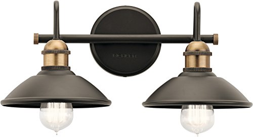 - Kichler Lighting 45944OZ Two Light Bath from The Clyde Collection