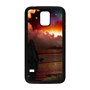 Diy Beautiful Landscapes Nature Custom Cover Phone Case for samsung galaxy s5 Black Shell Phone [Pattern-1]