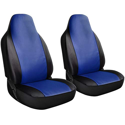 Motorup America Embroidered Blue Dolphin Auto Bench Seat Cover Full Set - Fits Select Vehicles Car Truck Van SUV
