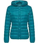 Wantdo Women's Down Jackets Packable Lightweight Hooded Puffer Coat Windproof Mountain Insulated ...