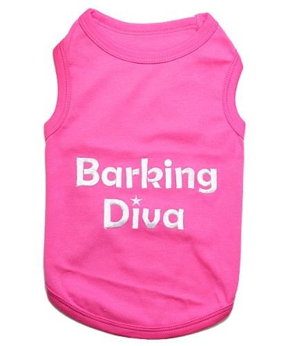Diva Dog Tee (Barking Diva Dog T-Shirt Pet Clothes Tank - All Sizes (XXXL))