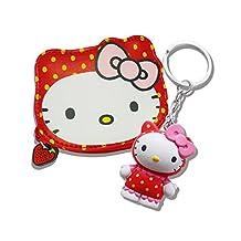 Genuine Sanrio Hello Kitty Strawberry Zip Coin Purse & Scented Keyring Gift Set