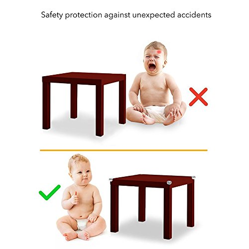 G-Tree Baby Proofing Edge & Corner Guards Set,6.5 ft Cover Edge 16Corners Guard Edge Furniture Protectors Corner Cushion Protection (Brown) by G-Tree (Image #5)