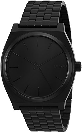 nixon-mens-a045-001-minimal-the-time-teller-black-stainless-steel-watch