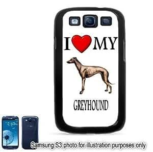 Greyhound I Love My Dog Photo Samsung Galaxy S3 i9300 Case Cover Skin Black