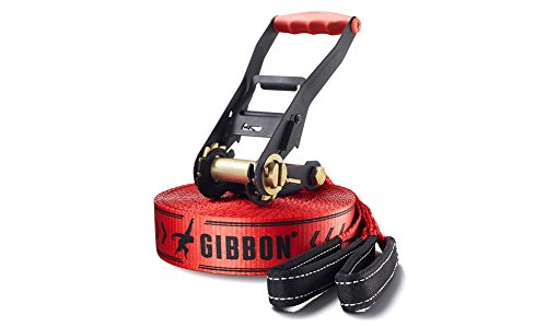 (GIBBON Slacklines Classicline Red Edition 49-Feet Slackline)
