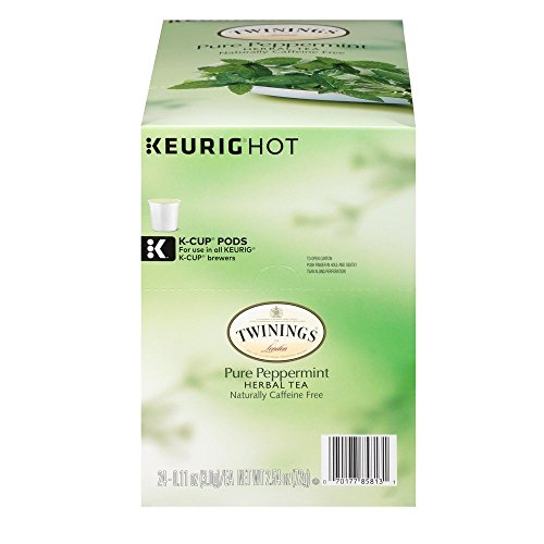 (Twinings of London Pure Peppermint Tea K-Cups for Keurig (48 Count))