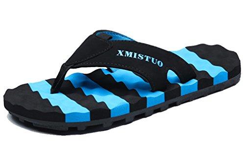 Cattior Hombres Verano Al Aire Libre Playa Chanclas Zapatillas De Casa Azul