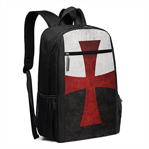 - Large Camping Athletic Backpacks Black and White Flag with Red Iron Cross College Junior School Daily Student Work Travel High Capacity Laptops Computer Daypack Bag for Unisex Girls
