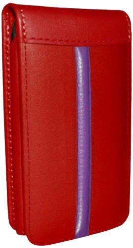Piel Frama Ledertasche Classic Magnetic RACE Edition Rot/Fuchsia für Apple iPhone 5 / 5S