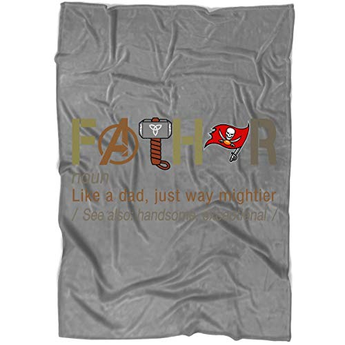- COLOSTORE Tampa Bay Buccaneers Blanket for Bed and Couch, Fathor Like A Dad Blankets - Perfect for Layering Any Bed (Large Blanket (80