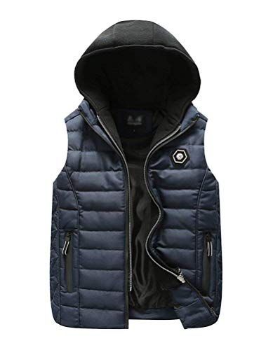 Vest Marine Thickening Color Rmellos Down Coat Jacket Unique Hooded Jacket Breathable Thickening Vest Sport Solid Mens Vest Closure Slim pUOU7