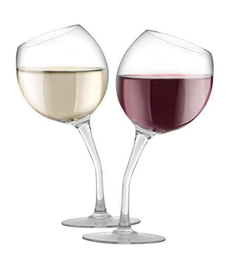 KOVOT Tilted Wine Glass Set, 13 oz, Glass