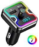 Best FM Transmitters - Bluetooth FM Transmitter for Car, Comsoon 7 Colors Review