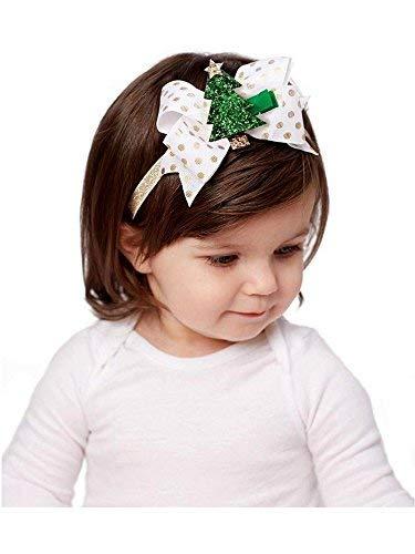 Mud Pie Holiday Glitter Clip Headband Set - OS
