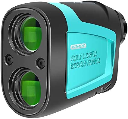 KOMOK High Precision Golf Laser Rangefinder,656 Yard Measuring Distance,6X HD Eye Lens with Slope,Range,Height,Flagpole,Speed Mode,FDA Approved